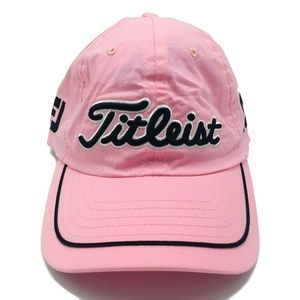 Titleist Pink Adjustable Strap Golf Hat
